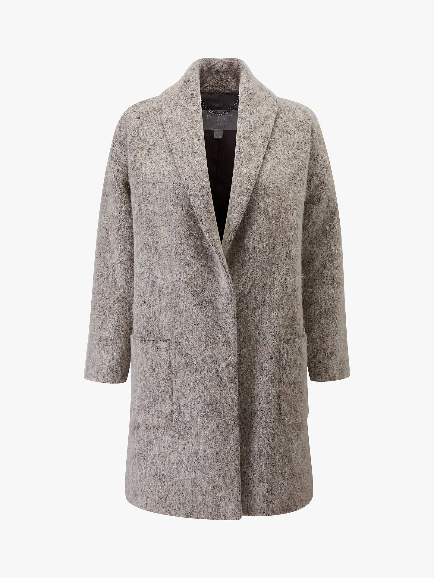 BuyPure Collection Shawl Coat, Soft Taupe, 8 Online at johnlewis.com