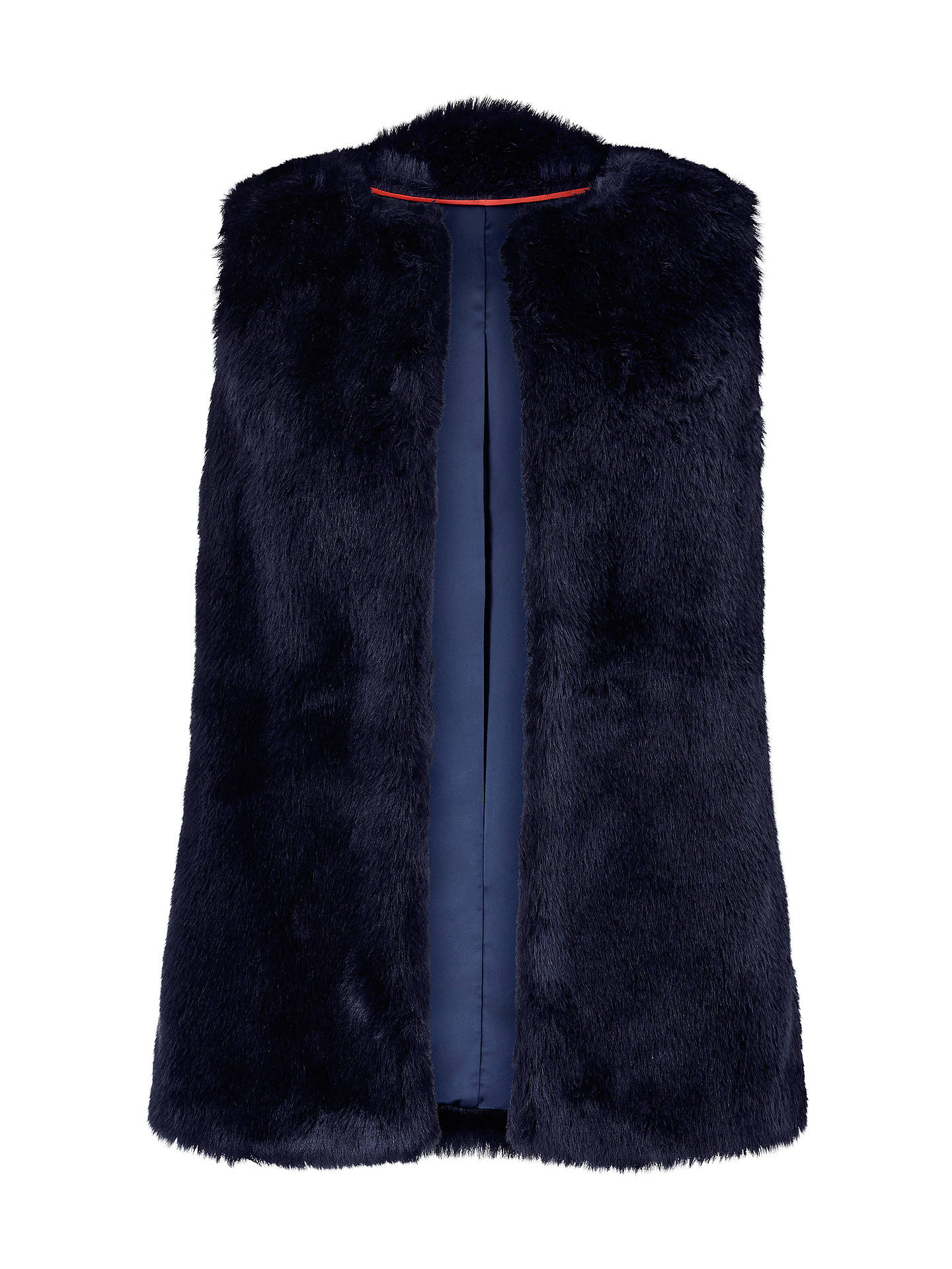 BuyBoden Helston Faux Fur Gilet, Navy Fur, 14 Online at johnlewis.com