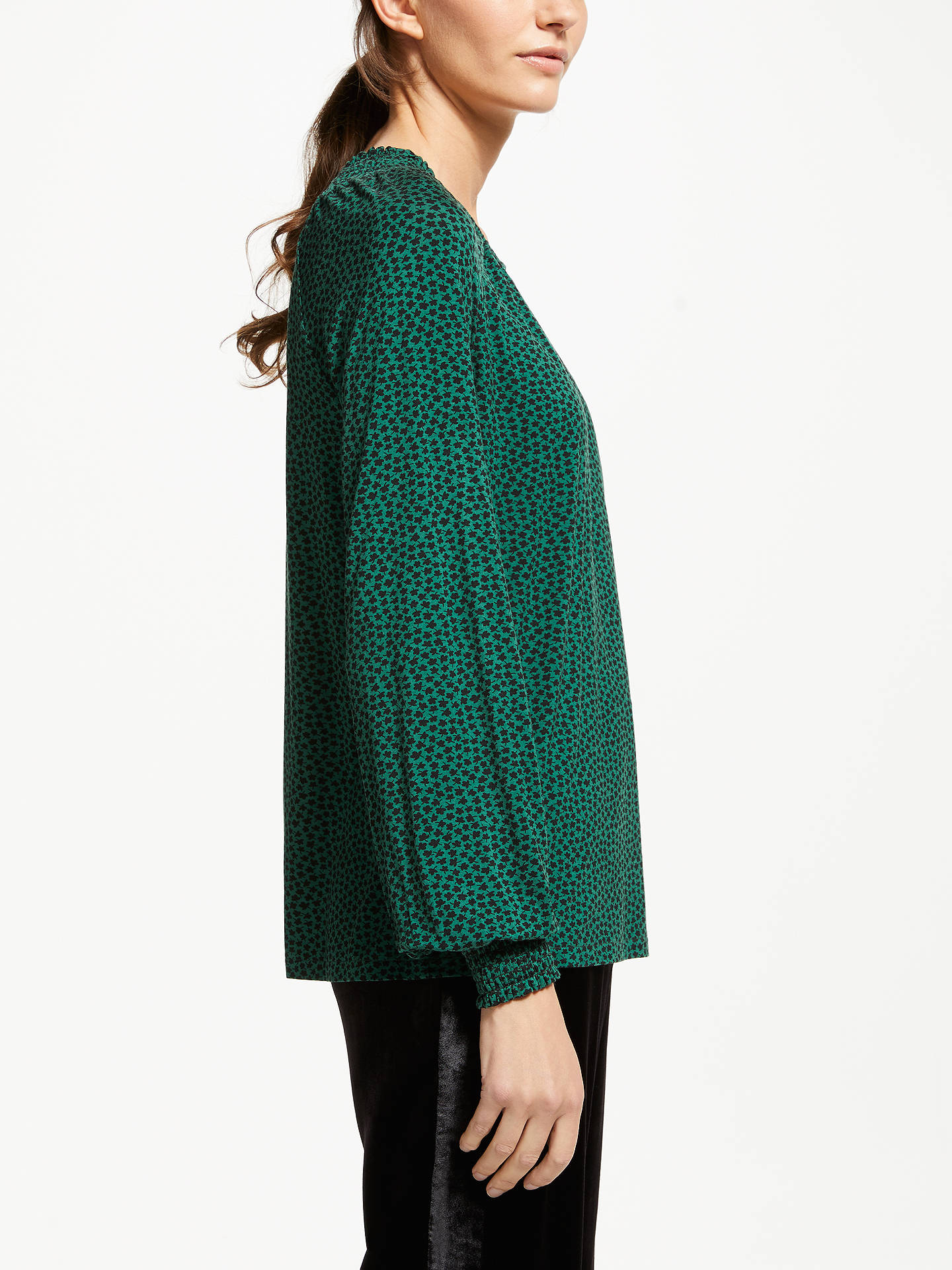 BuyBoden Vicky Jersey Top, Amazon Green Petal, 12 Online at johnlewis.com