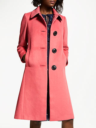 Buy Boden Conwy Coat, Blush, 10 Online at johnlewis.com