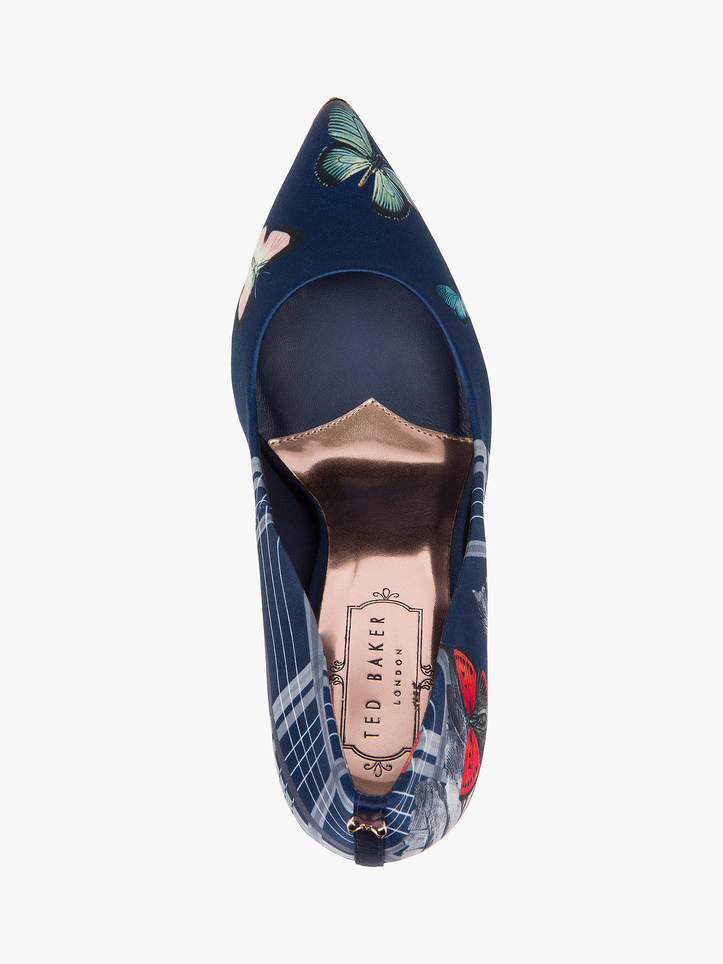 Buy Ted Baker Kawaap Textile Heeled Court Shoes, Blue Multi, 3 Online at johnlewis.com