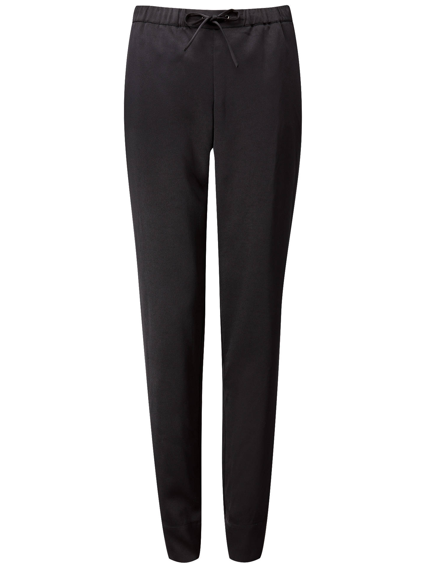 BuyPure Collection Relaxed Satin Trousers, Black, 20 Online at johnlewis.com