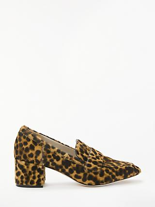 Boden Alicia Block Heel Loafers, Leopard Hair