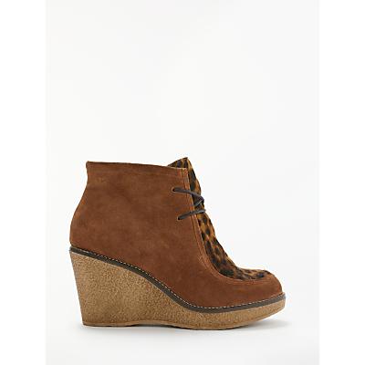 Boden Brundall Wedge Heel Boots, Tan Suede