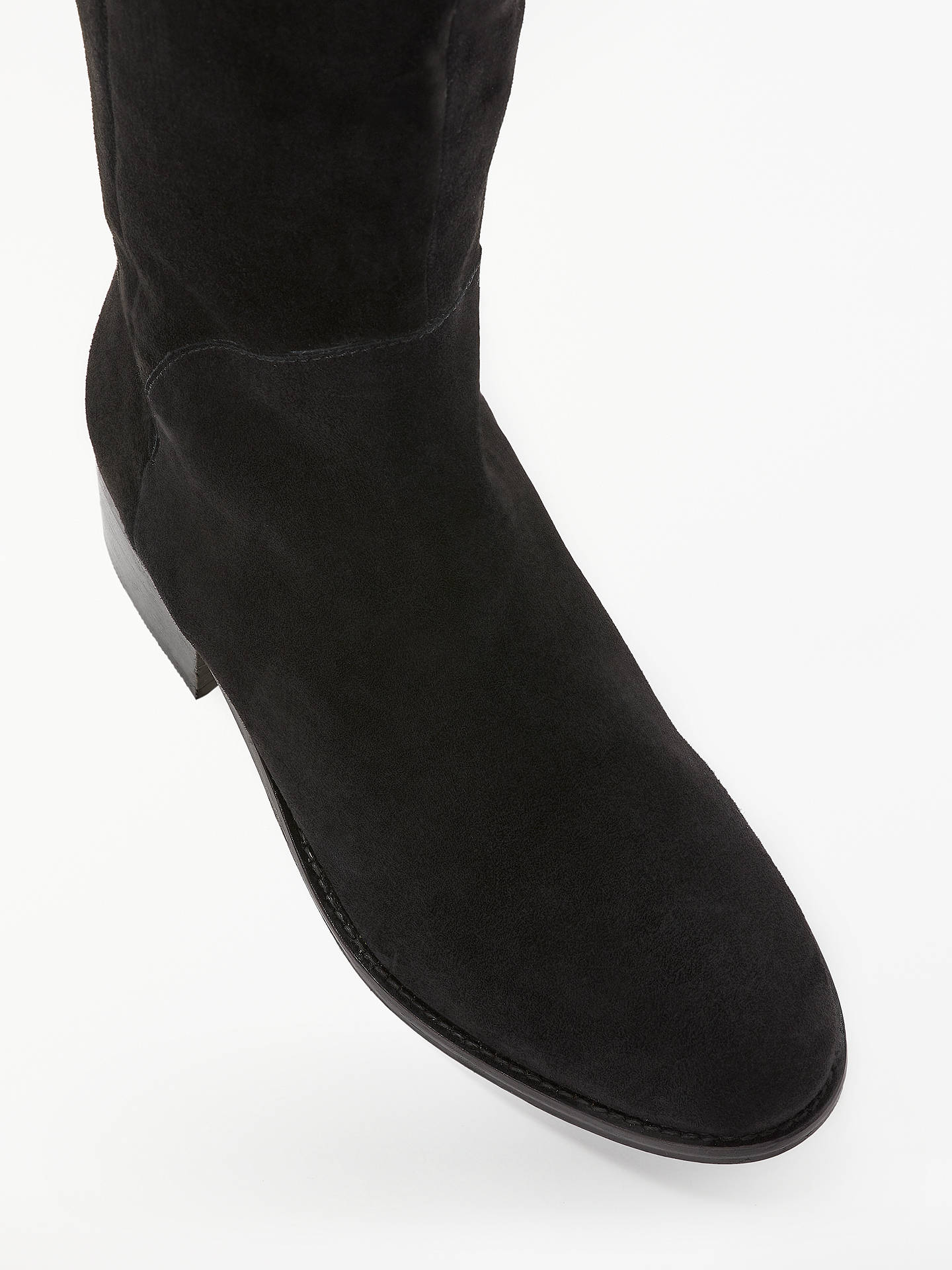 BuyBoden Bray Over The Knee Boots, Black Suede, 4 Online at johnlewis.com
