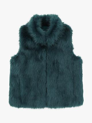 Jigsaw Girls' Fluffy Faux Fur Gilet