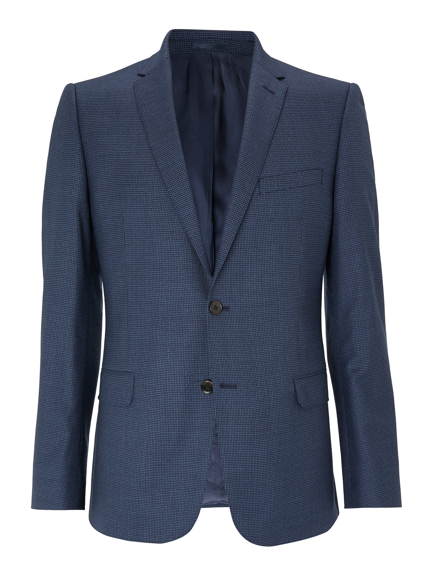 Buy John Lewis & Partners Wool Puppytooth Slim Fit Suit Jacket, Blue, 42S Online at johnlewis.com