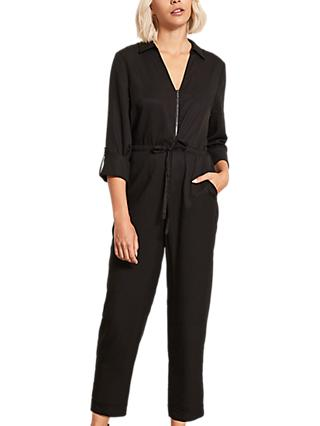 Mint Velvet Utility Jumpsuit, Black