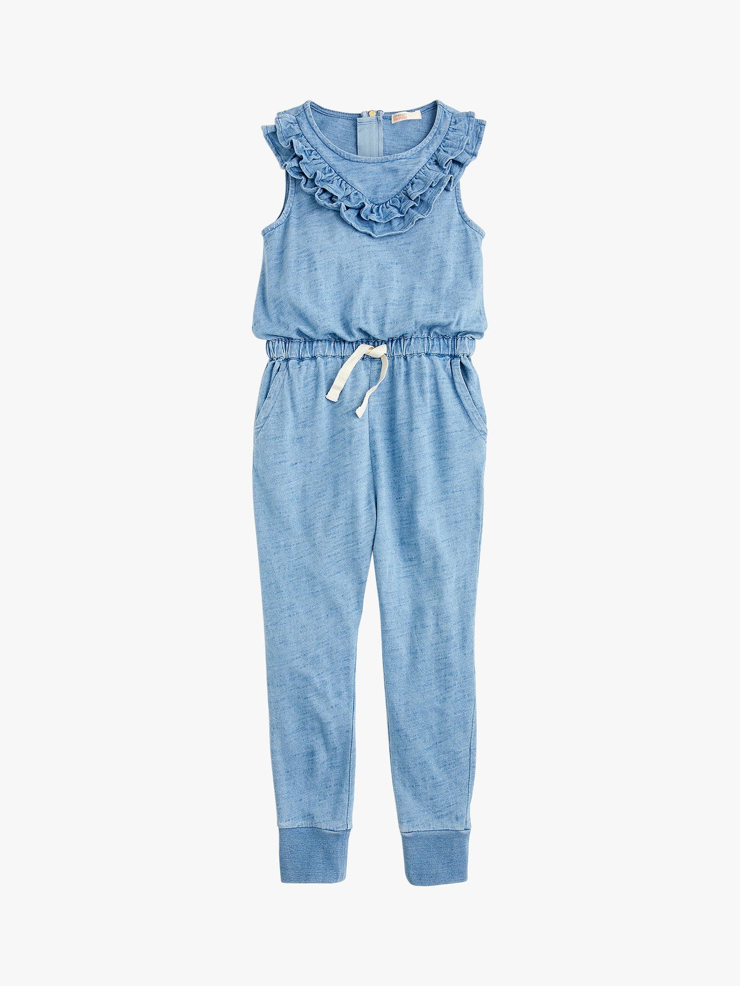 b9346a5fae7f7 Buy crewcuts by J.Crew Girls' Ruffle Jumpsuit, Blue, 16 years Online ...