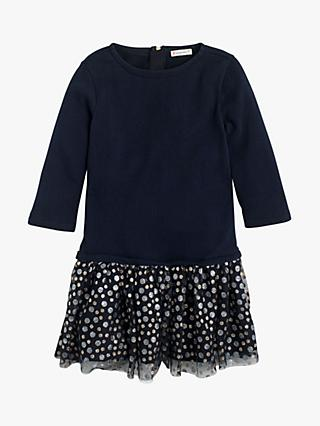 crewcuts by J.Crew Girls' Glitter Tulle Skirt Dress, Navy