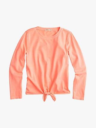 crewcuts by J.Crew Girls' Courtney Tie T-Shirt, Pink