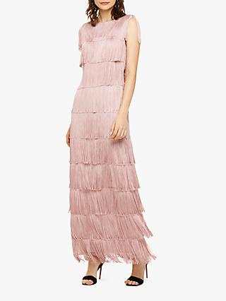 Phase Eight Fringe Maxi Dress, Pale Pink