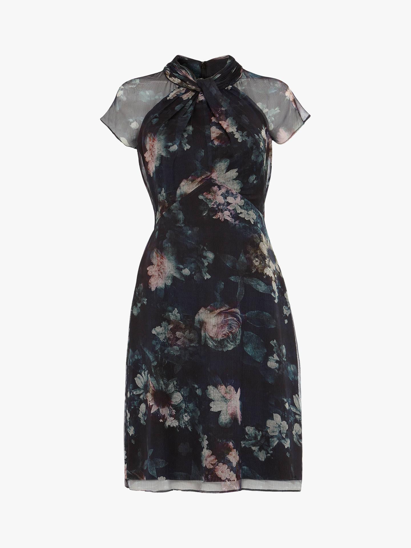 Phase Eight Imogen Twist Neck Floral Dress,