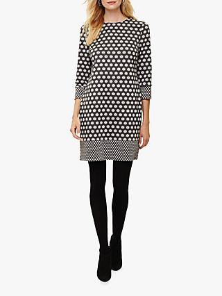 Phase Eight Spot Tunic Dress, Grey