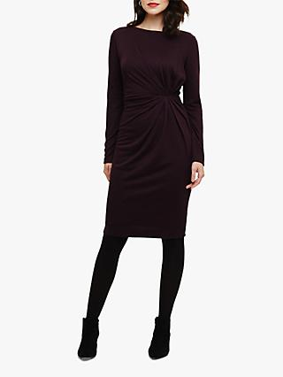 Phase Eight Trishna Twist Dress, Blackberry