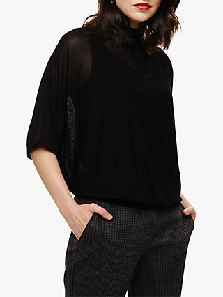 Phase Eight Blouson Knit Top, Black