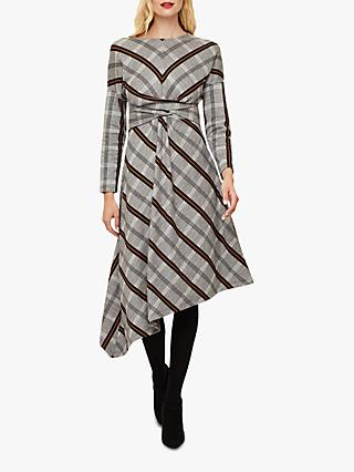 Phase Eight Cicilia Check Dress, Grey/Mutli