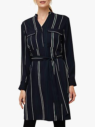 Phase Eight Keiko Stripe Dress, Navy Multi