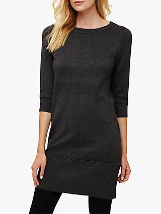 Phase Eight Seam Knit Dress, Charcoal Marl