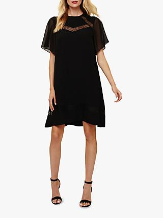Phase Eight Jaycee Lace Swing Dress, Black