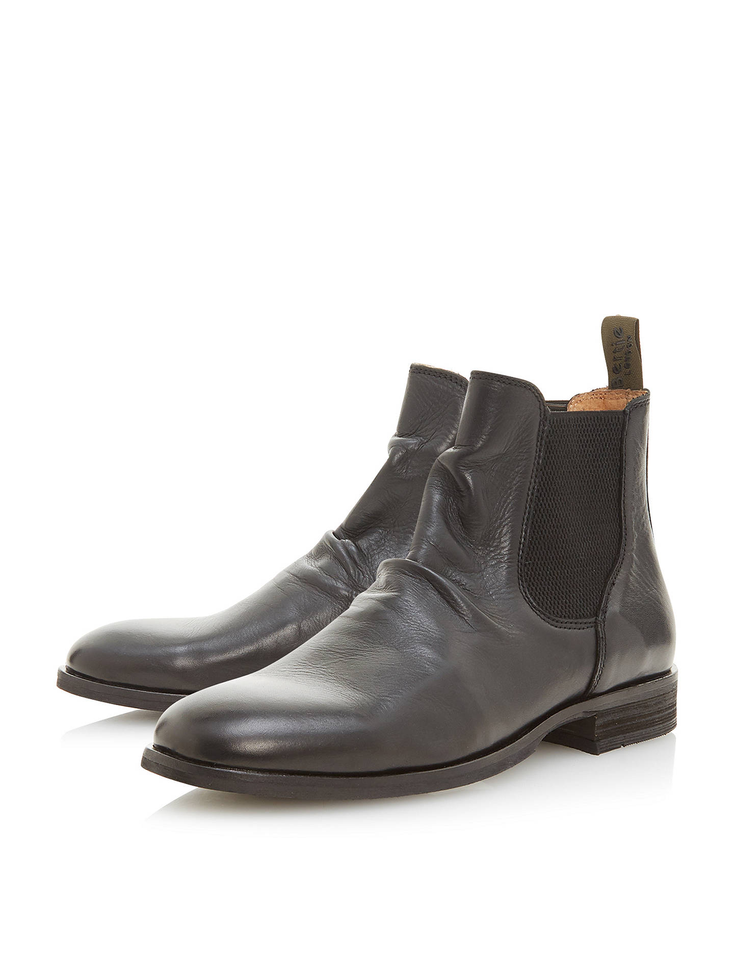 Buy Bertie Cannibal Chelsea Boots, Black, 12 Online at johnlewis.com