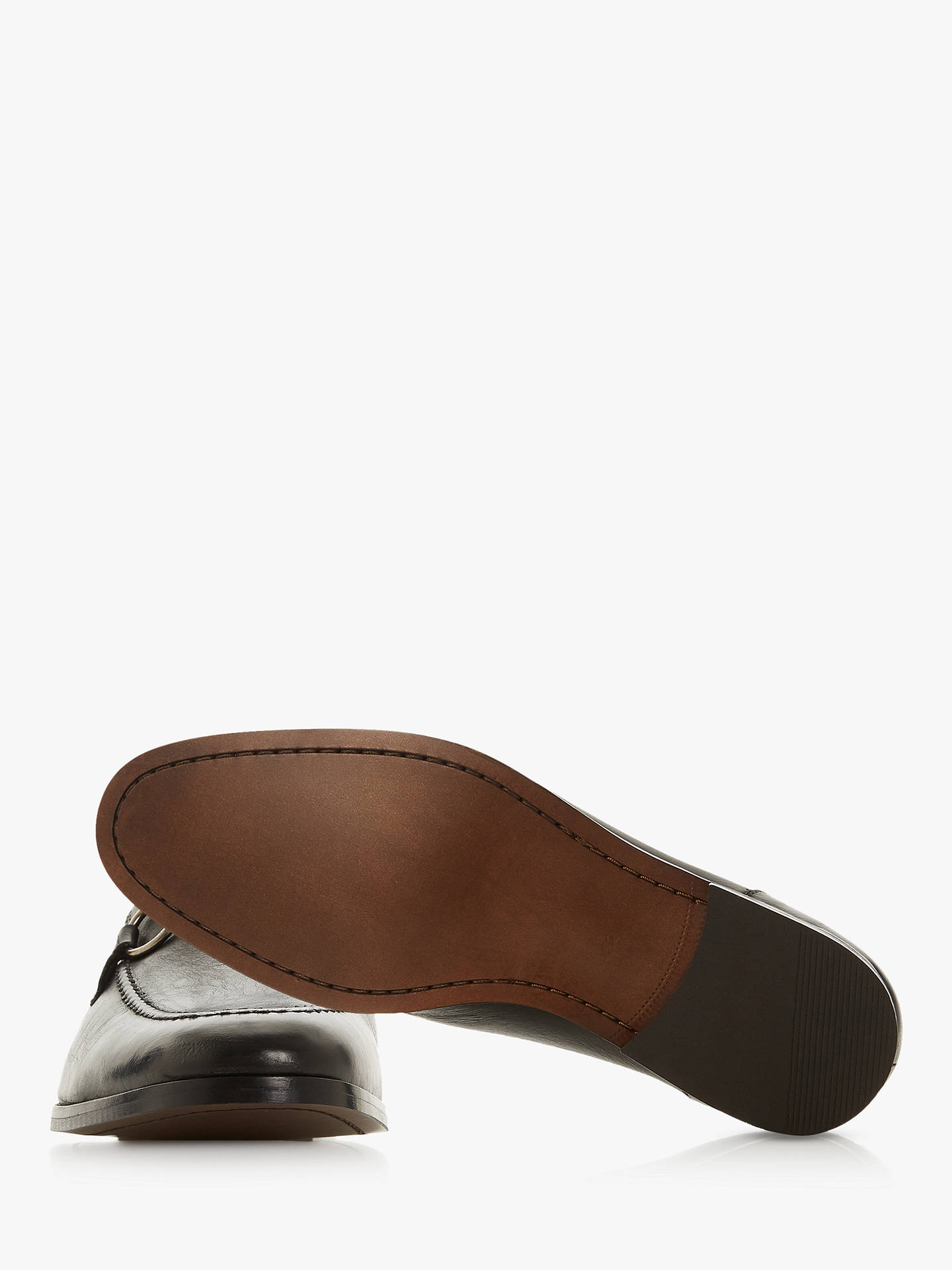 Buy Bertie Parason Snaffle Detail Loafers, Black, 9 Online at johnlewis.com