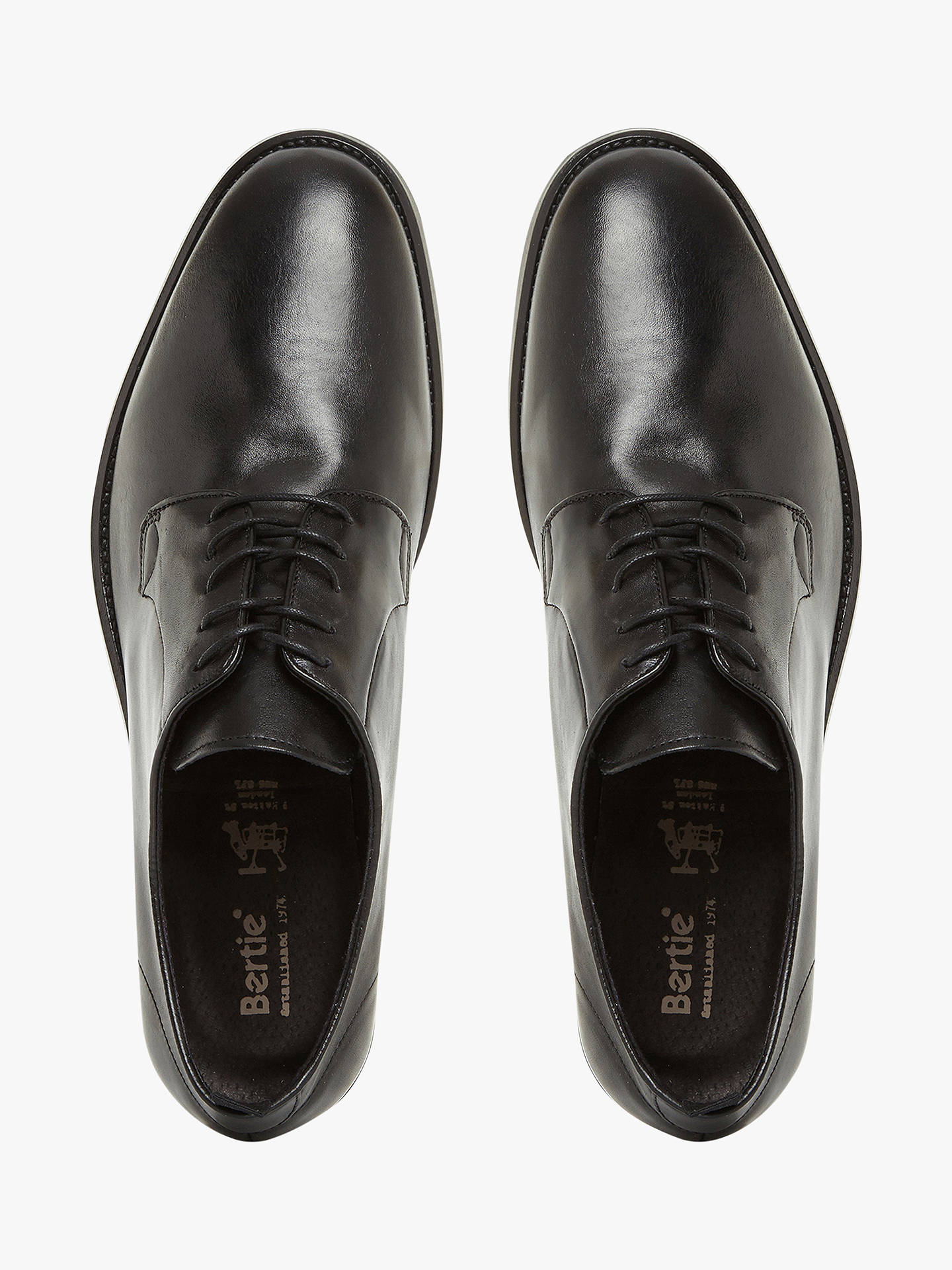 BuyBertie Pachu'a Derby Shoes, Black, 6 Online at johnlewis.com