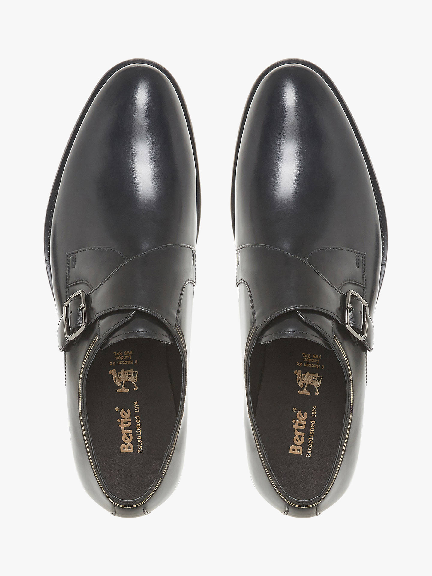 BuyBertie Pilcrow Monk Strap Shoes, Black, 6 Online at johnlewis.com