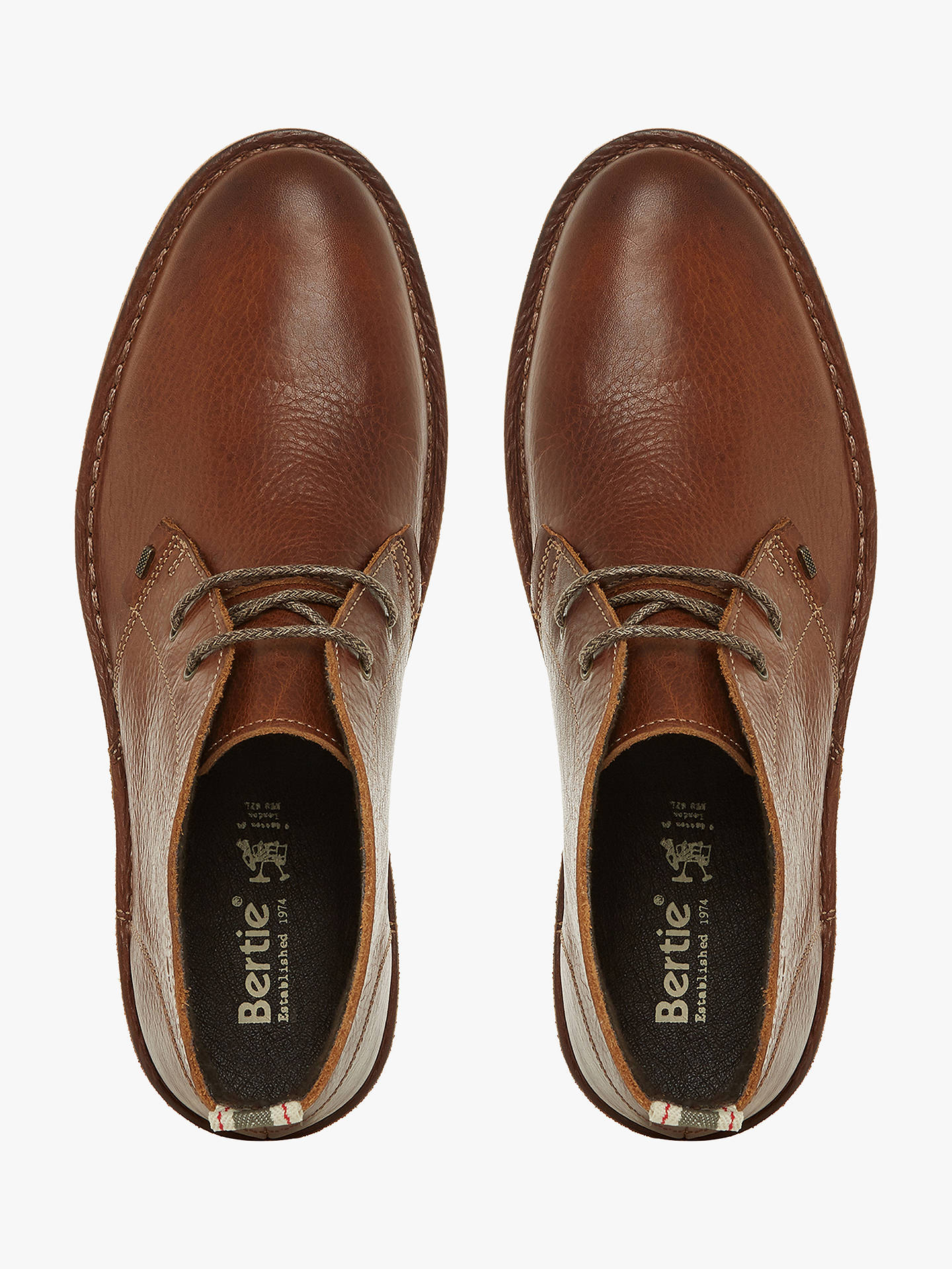 BuyBertie Castle Leather Desert Boots, Tan, 11 Online at johnlewis.com