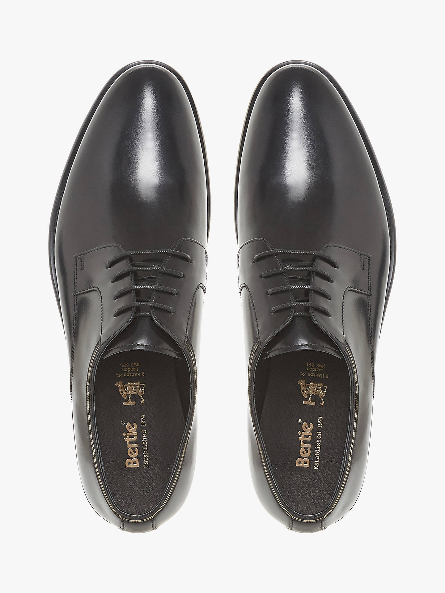 BuyBertie Poem Derby Shoes, Black, 10 Online at johnlewis.com