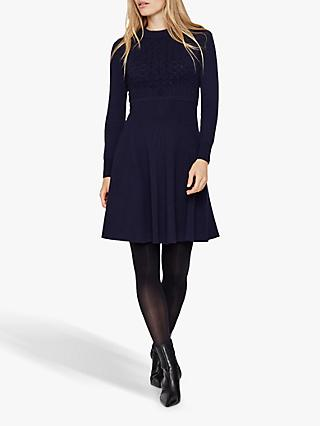 Damsel in a Dress Karter Knit Dress, Navy