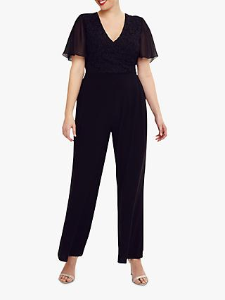 Studio 8 Salma Lace Wrap Jumpsuit, Black