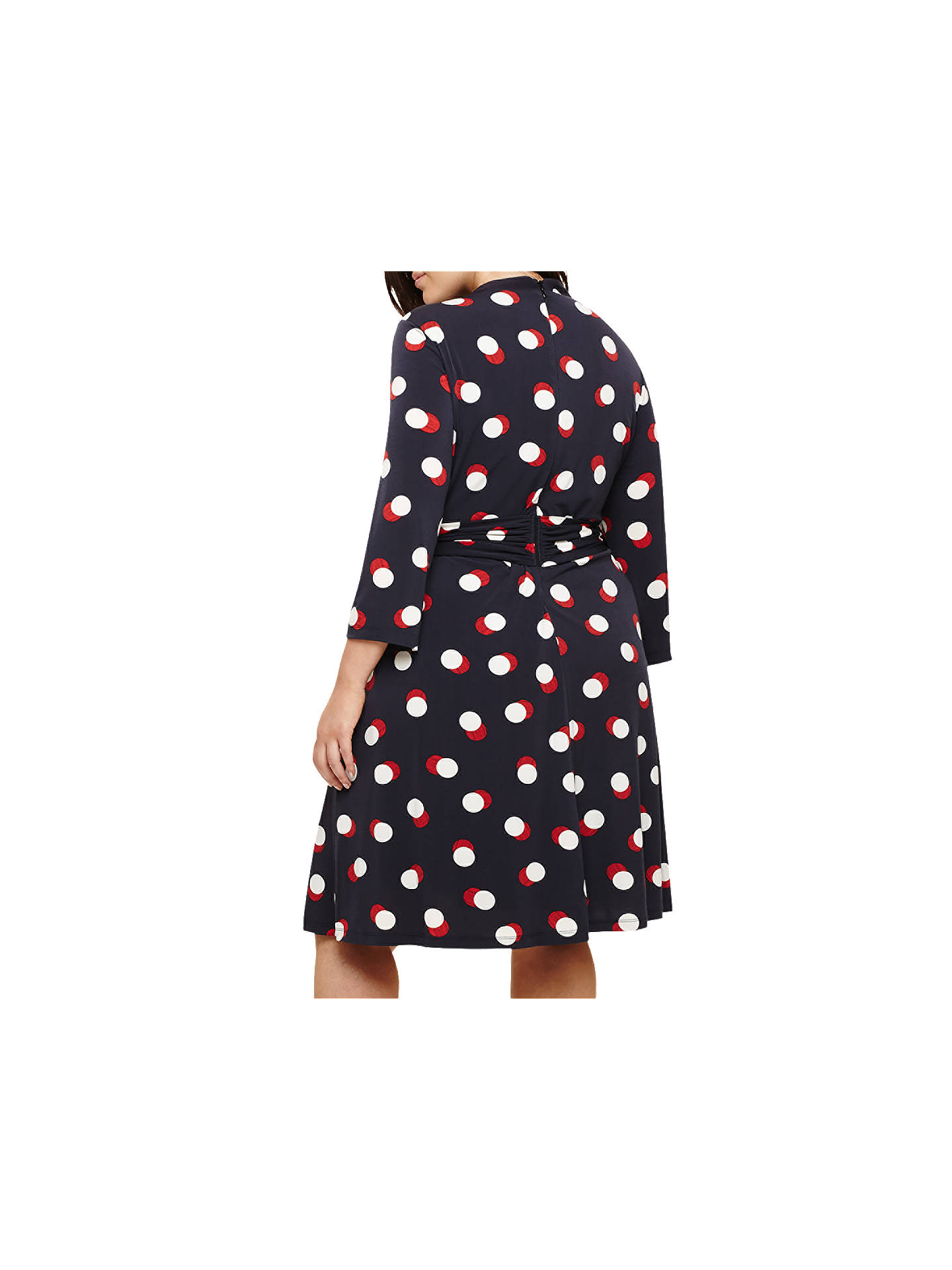 BuyStudio 8 Anne Spot Dress, Navy/Multi, 14 Online at johnlewis.com
