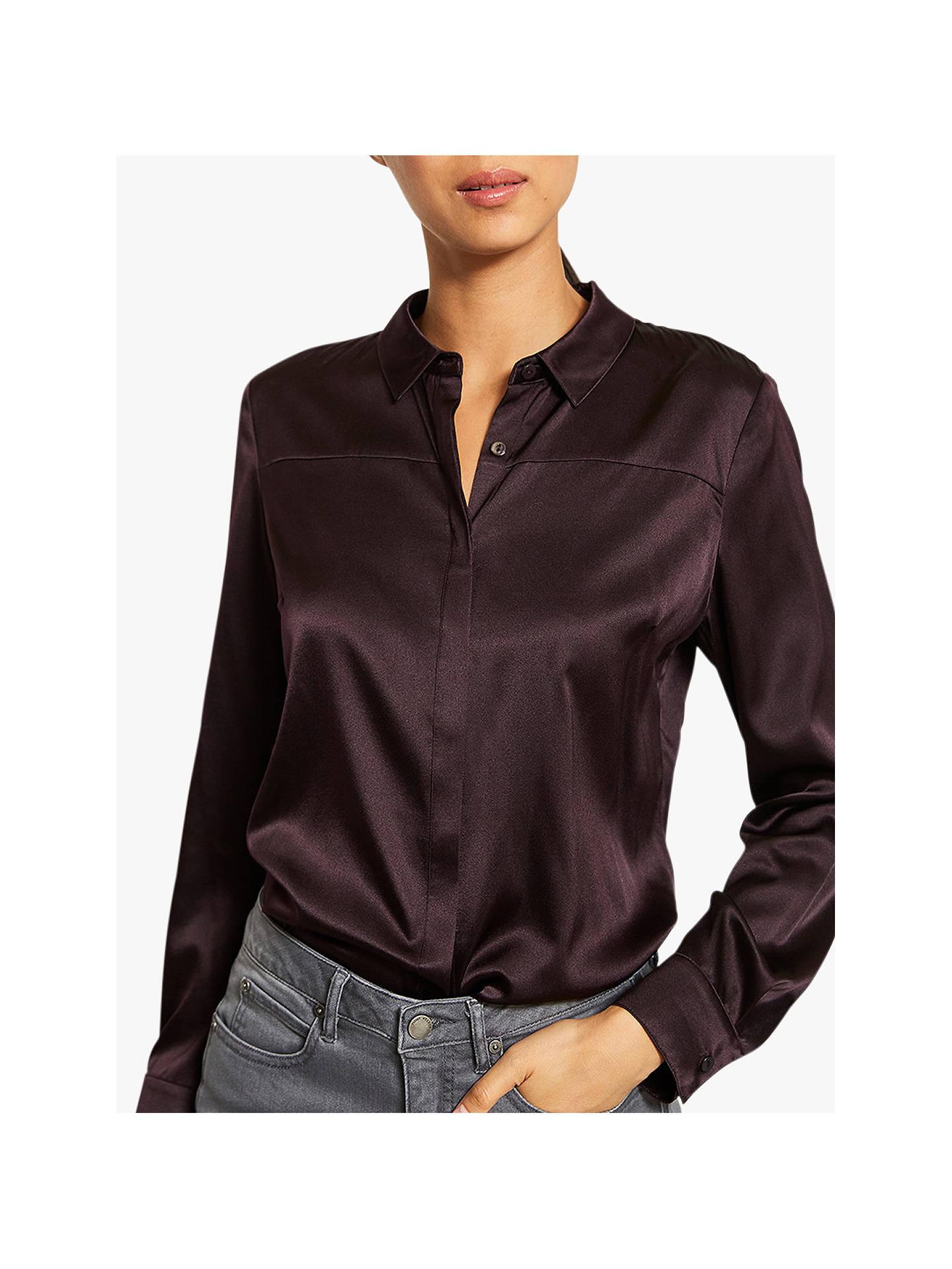 1a79e30ece8 Buy Mint Velvet Burgundy Silk Satin Shirt