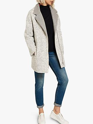 Mint Velvet Salt & Pepper Coat, Grey