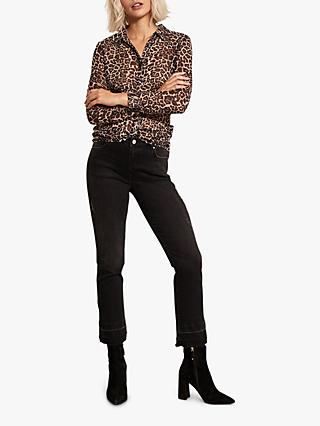 Mint Velvet Nevada Flare Jeans, Black