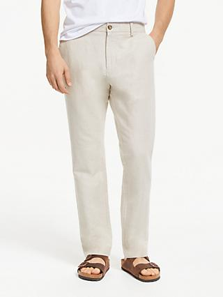 John Lewis & Partners Linen Cotton Trousers