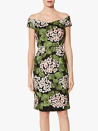 Gina Bacconi Floral Embroidered Dress, Multi