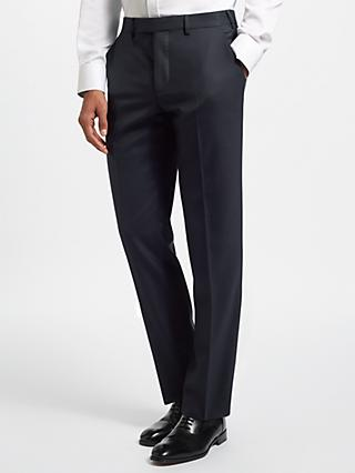 John Lewis & Partners Zegna Wool Twill Tailored Fit Suit Trousers, Navy