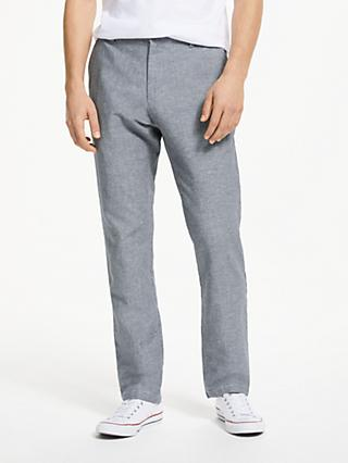 John Lewis & Partners Linen Cotton Chambray Trousers