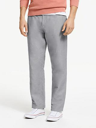 John Lewis & Partners Linen Cotton Stripe Trousers