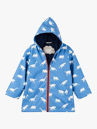 Hatley Boys' Dinosaur Splash Rain Jacket, Blue