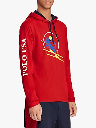Polo Ralph Lauren Ski Hooded T-Shirt, Red