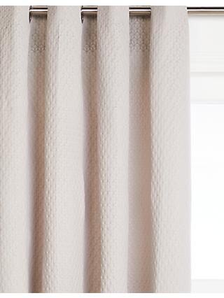 John Lewis & Partners Wellesley Pair Lined Eyelet Curtains, Silver Grey