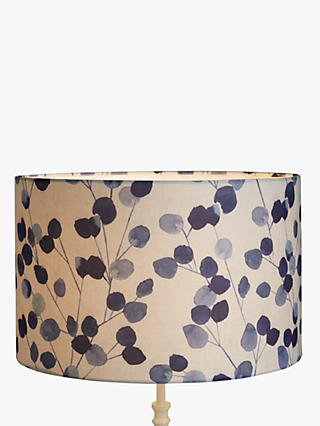 John Lewis & Partners Helmsley Lampshade, White/Navy