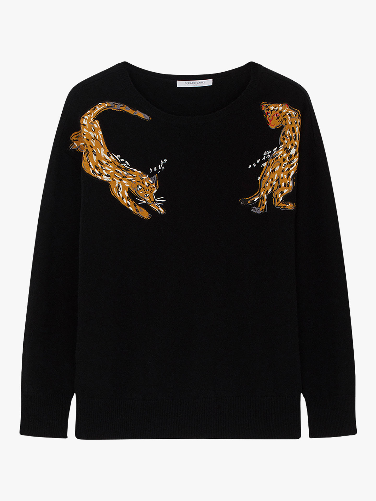 BuyGerard Darel Leopard Jumper, Black, 8-10 Online at johnlewis.com