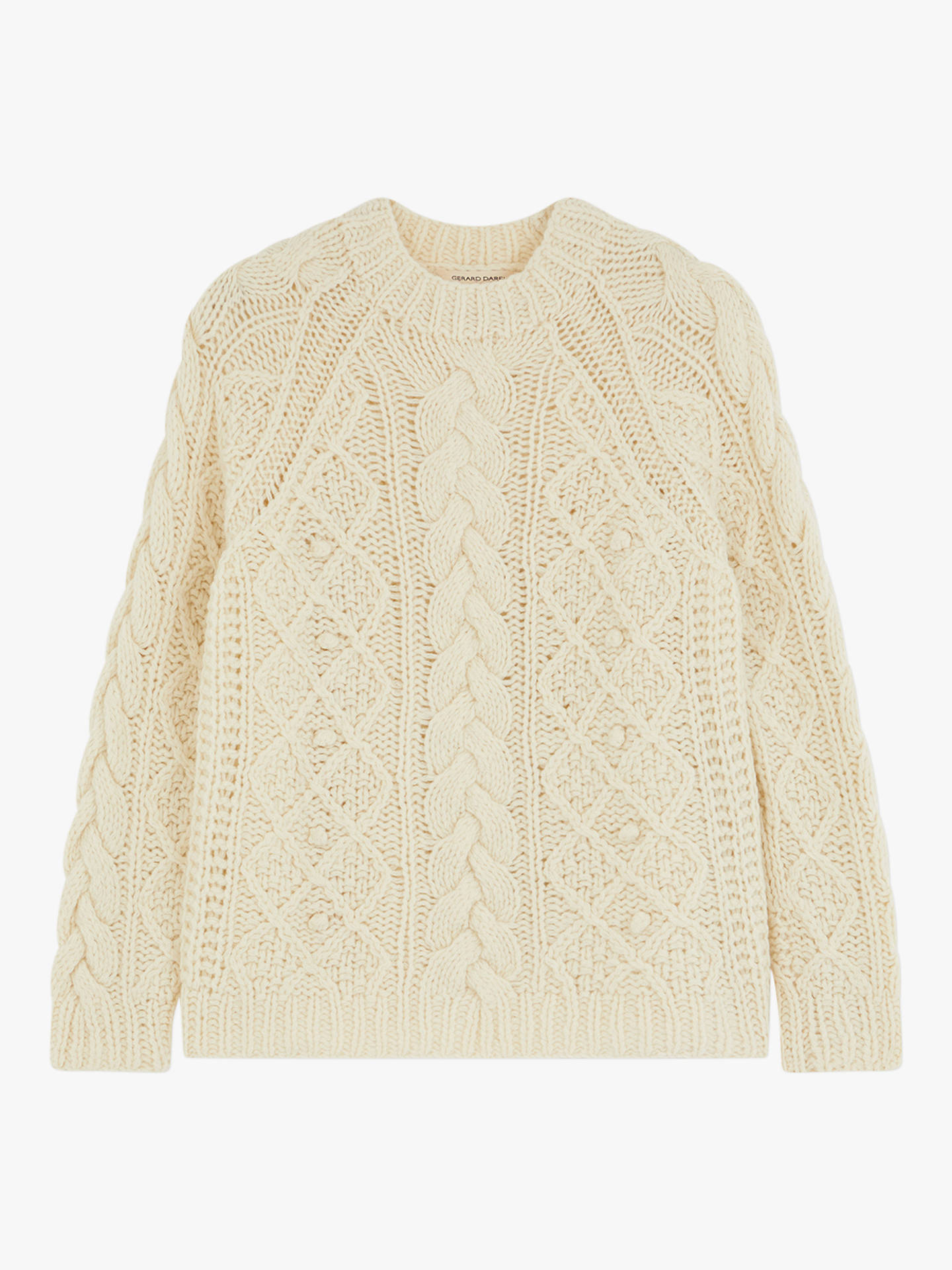BuyGerard Darel Marylin Cable Knit Jumper, White, 8-10 Online at johnlewis.com