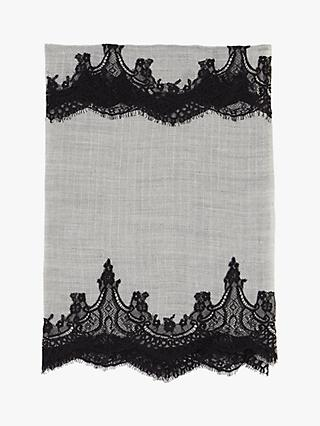 Gerard Darel Embroidered Eleonore Scarf, Grey/Multi
