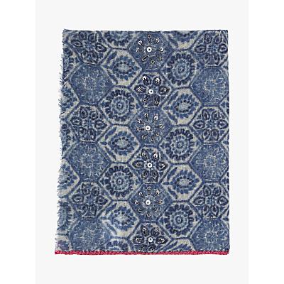 Gerard Darel Erin Floral Print Scarf, Blue