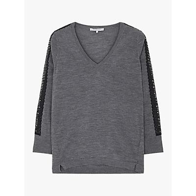 Gerard Darel Cara Wool Top, Grey